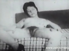 unique vintage. In 1922 there was already amateur home porn movies. Horny hobbyists made their own porn movies. Hairy housewife gives her hubby a real good blow job, before he fucks her and sprays her pussy with of cum. Next she keeps fingering her hairy pussy.