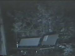 hidden real spy cam (night vision) japanese park