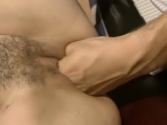 Hard office sex with two cock hungry sluts taking turns in riding and sucking cocks.