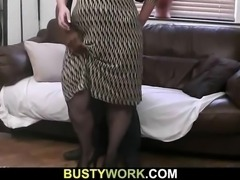 Big black cock is filling her giant tunnel