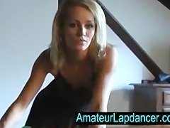Gorgeous tanned blonde lapdance