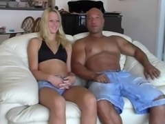 Amateur Blond Fucked By Interracial Cock And Toy