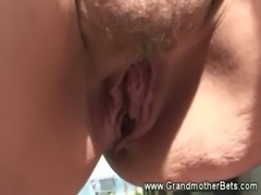 Granny blowing her studs young cock free