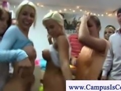 College girls dance their naked butt off