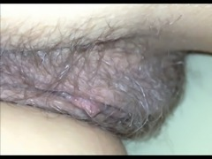 Pussy close-up under the blanket (secretly filmed)
