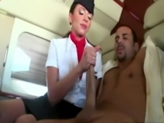 CFNM air hostess babes getting fucked after sucking subject free