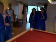 That party was crazy, Im glad we taped it. I scored the hottest girl in school (Madison Chandler) and Bruno fucked Autumn Lee, the second hottest one, It was amazing. We played strip pool and after that the girls did some naked trampoline stuns.  Im sure none of us will ever forget that day.