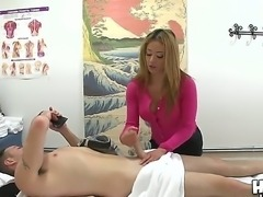 Cute Asian masseur Mia Lelani gets paid by Romeo Price for a bit of her tits on his cock!