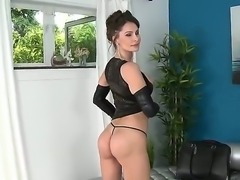 Watch the fascinating porn scene where beautiful milf is relaxing with her boyfriend. He moves aside her panties and licks pussy before getting his penis sucked.