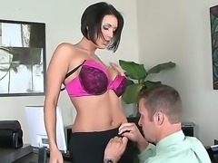 Hell yeah, busty Dylan Ryder is one of the best workers in her huge office, for sure  especially when it comes to working on the huge cock of her colleague Jack Lawrence!