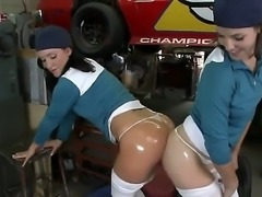 Alexis Malone and Bobbi Starr are naughty and horny chicks and they love powerful cars with big engines, as they love hot boyfriends Bobbi Starr and Xander Corvus their with powerful dicks.
