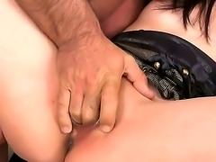 Today is really great day, because super cute Asian brunette named Yiki willingly came to surprise us with a real action. Babe starts with great cock sucking and than gets her pussy rocked.