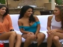 Two dark skinned, exotic beauties take turns eating each others pussies poolside in view of the Reality Kings cameras. Theyre certainly not shy. What they are, though, is sexy.