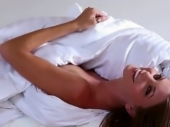Mesmerizing and astonishing Amber Sym poses, strips and teases in front of the camera demonstrating us her divine figure. She has narrow trimmed pussy and flawless brest.