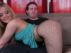 Beatufiul skinny babe in gorgeous fishnet is showing her sexy ass to her brand new lover Randy Spears who just met this babe. Enjoy hot Alexis Texas showing her asshole.