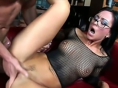 Hot brunette Simone Style has deep throat and tight pussy. The girl serves her neighbor and gives him unforgettable blowjob by her naughty wet lips and sloppy mouth