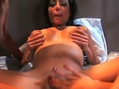 Turned on young looking lezzies Lela Star, Reena Sky and Vanessa Monet with long whorish nails and tight sexy bodies pleasure each other with big kinky toys to wet loud orgasms.