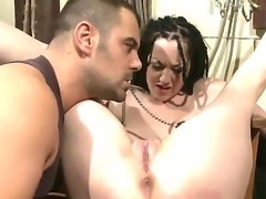 Dirty sex with BDSM elements in a basement with prisoner - seductive pornstar Gina Lorenzza and her sex-torturer! He stimulates her genitals and penetrates all her sweet holes!