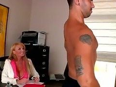 Amazing Taylor Wane with her perfect and lovely body that has a pair of enhanced boobs on it is enjoying jerking off a big dick and having her ass licked by a handsome dudes tongue.