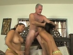 So lucky dude is spending time with two cute Asian hotties Jessica Bangkok and Yuki Mori. Babes are standing on knees and starting to perform unforgettable fellatio.