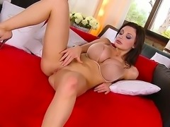Wanna watch sinful brunette bitch with cool boobs Aletta Ocean getting all of her loving holes pounded Then stare at this scene where she sucks, gets dick into cunt and anus.