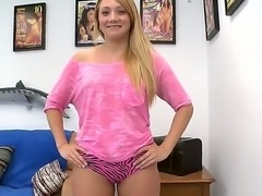 Today we meet fine ass young blonde Kaylee Evans in the audition session
