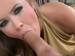 Colette W. and her boyfriend want to relax after a very difficult day. The man gives his hungry cock to the girl and she sucks it as if it is sweet and very tasty lolly pop