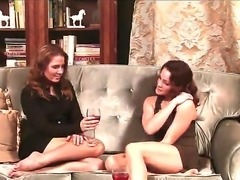 Two prepossessing lesbian pornstars Inari Vachs and Natasha Nice start to kiss each other