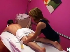 Petite Asian whore Chad White is a master of softcore orgasmic massage!