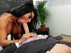 Sweet Kerry Louise pleases her new handsome teacher to get goog marks at the end