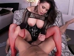 Do you want to stare at beautiful chick from Asia Jessica Bangkok playing with big cock Then examine this action where she is using her tugs and feet to caress penis.