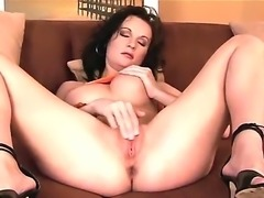 Wonderful Missy Preston is having one nasty solo masturbation over her tight cunt