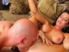 Johnny Sins is a driver of rich businessman. Johnny knows that he has small dick and smoking hot wife - Veronica Avluv! Today he came to present this horny brunette real dick.