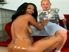 Amazing black babe Asia is having her pussy nicely fingered by her man Josh, who is just using his filthy fingers and nothing else. Enjoy the hot video.
