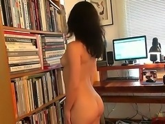 Aubrey isnt shy. In fact, you might say shes a born performer. I mean, just watch the way she strips, poses, and masturbates in front of that dirty little webcam. What a babe.