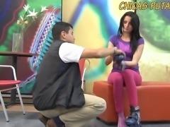 Jovencita colombiana quiere sexo