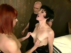 Enjoy Mark Davis, Odile and Coral Aorta in hardcore orgy for one cock and two sluts
