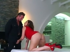 Today we have an amazing backstage with horny and busty Paige Turnah fucking hard
