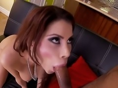 Alexa Nicole is a remarkable slut with natural boobs and deep throat. She has unforgettable sucking techniques and she gives spectacular blowjob to her horny lover