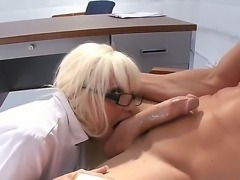 Dr. Six is a very sexy curve with big boobs and sweet pussy. She fucks with her patient and has a very passionate oral sex where she makes him blowjob and he licks her candy kitty.