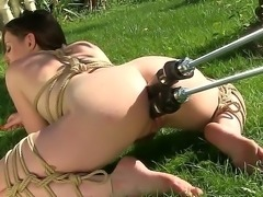 Samantha Bentley is feeling quite the hardcore way today, she is all tied up and has a mechanical sex wonder fuck her in every possible hole and with big force as well just how she likes it.