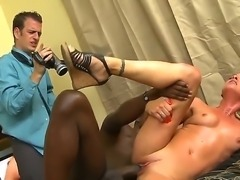Hot interracial blowjob scene with seductive pornstar Amanda Blow, policeman Chad Diamond and strong black guy Julius Ceazher. Two guys fuck this slut in hardcore mode! Enjoy this scene!