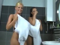 Two amazing girlfriends Sandra Shine and Sophie Moon treating with each...
