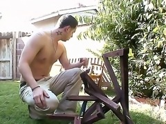 Horny and handsome guy got his neighbor Isis Love to have an wild sex with him, by just taking his shirt off and showing her his wonderful body. Enjoy the hot video.