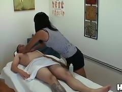 The good-looking brunette pornstar Yuki Mori makes a good massage to the Lloyd Psexy