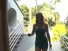 Turned on experienced mature blonde milf