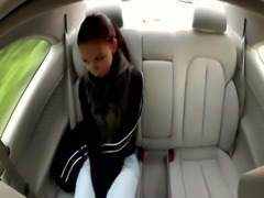 Public euro babe jerks cab driver free