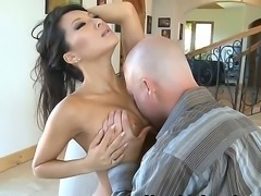 Unique Asian babe Asa Akira with ultra-cute, but fascinating face, big round boobs and crazy hot temperament makes my friend Jenner lucky today. Babes sucks and fucks his dick with wild passion.