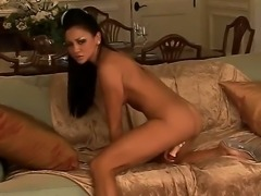 Mesmerizing brunette with beautiful tanned skin Audrey Bitoni sucks and licks...