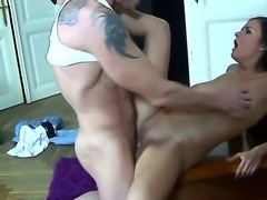 Candy Alexa is using her sexy body and tight fuck hole to pay Frank Gun for rent